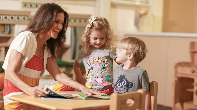 Keswick Christian School_Academics_Lower School_Teacher and small children